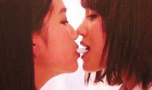 女の子同士のキスgifください